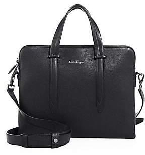 Salvatore Ferragamo Men's Leather Messenger Bag