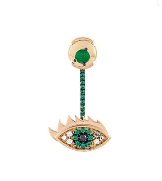 Delfina Delettrez 'Eyes on me' diamond and emerald earring