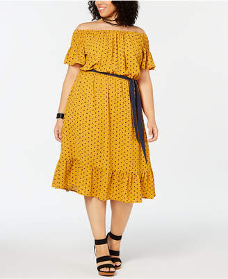 Love Squared Plus Size Printed Tie-Waist Dress