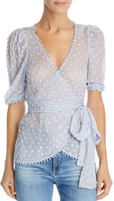 Alice McCall Moon Talk Embroidered Wrap Top