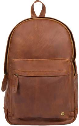 Mahi Leather Leather Classic Backpack Rucksack In Vintage Brown