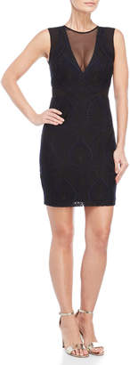 Nicole Miller Petal Lace Sleeveless Dress