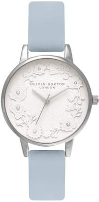 Olivia Burton Artisan Dial Leather Strap Watch, 30mm