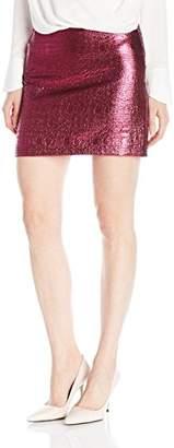 Milly Women's Lurex Jacquard Mini Skirt