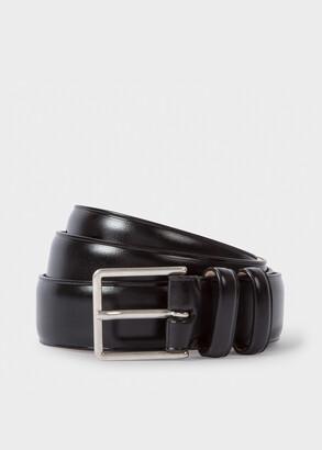 Men's Black Leather Double Keeper Classic Suit Belt