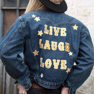 Denim and Bone 'Live, Laugh, Love' Embroidered Denim Jacket