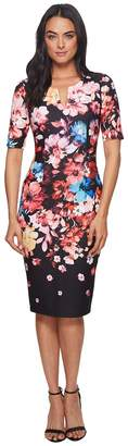 Adrianna Papell Spring In Bloom Printed Sheath Women's Dress