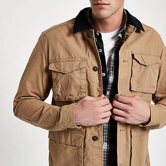 River Island Jack and Jones Originals stone field jacket
