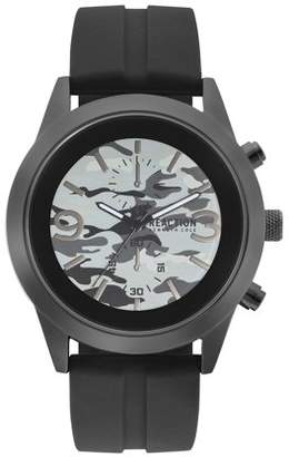 Kenneth Cole Reaction Men's Black Case Multi Colored Dial Black Silicon Strap Watch