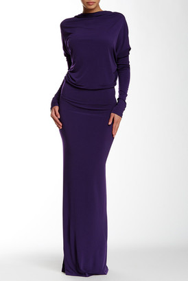 Issue New York Dolman Sleeve Backless Gown $292 thestylecure.com