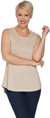 Halston H By H by Knit Sleeveless Top with Knit Side Panels