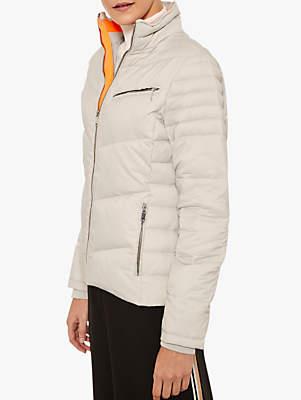 Mint Velvet Quilted Jacket, Light Grey