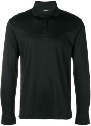 Ermenegildo Zegna long sleeved polo sweatshirt