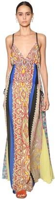 Etro Long Printed Georgette Dress