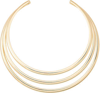 Kenneth Jay Lane Gold-Tone 3-Band Collar Necklace