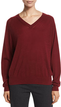 Vince Relaxed Cashmere V-Neck Sweater $275 thestylecure.com
