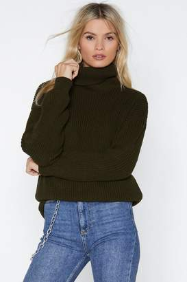 Nasty Gal Tell Knit to My Heart Longline Sweater