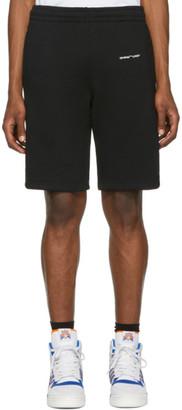 Off-White Black Logo Sweat Shorts