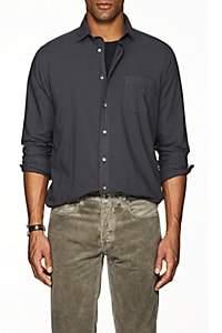 Hartford Men's Cotton Voile Sport Shirt - Dark Gray