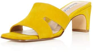 Charles David Women's Suede Harley Block Heel Slide Sandals