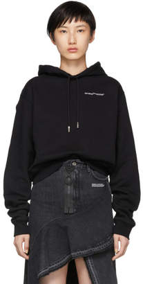 Off-White Black Quotes Cropped Hoodie