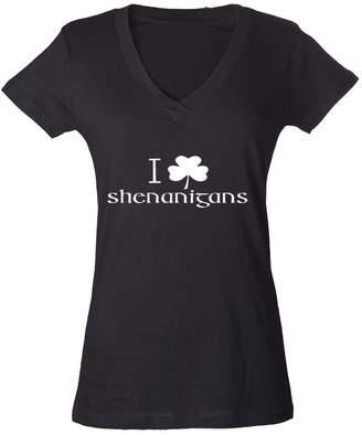 DAY Birger et Mikkelsen Cosmozz I Clover Shenanigans Funny Long-Sleeve St. Patricks Irish Flowy Shirt Black Marble i4