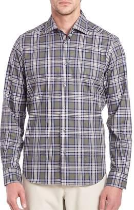 Saks Fifth Avenue Men's Windowpane Plaid Shirt