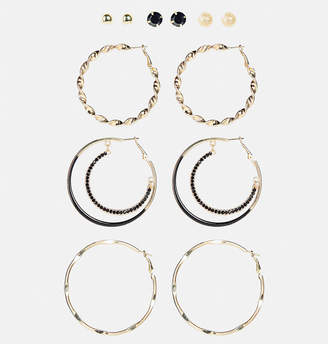 Avenue Gold and Jet Earring Set