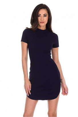 AX Paris Curved Hem Bodycon Mini Dress