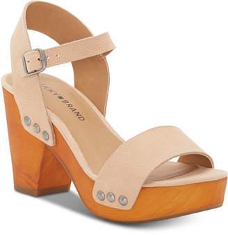Lucky Brand Women Trisa Wood Sandals Women Shoes