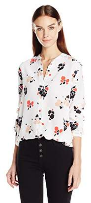 Equipment Women's Henri Painted Blossoms Printed Blouse