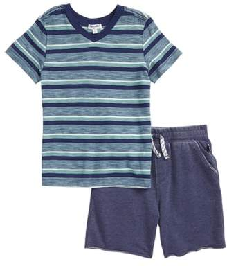 Splendid V-Neck T-Shirt & Shorts Set