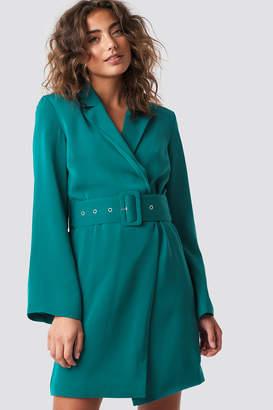 Hannalicious X Na Kd Blazer Dress Petrol