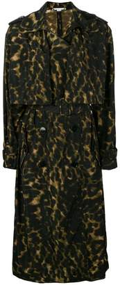 Stella McCartney leopard printed trench coat