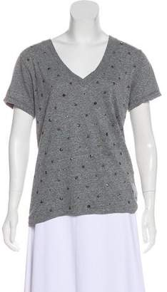 Current/Elliott Studded V-Neck Shirt