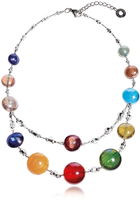 Antica Murrina Redentore 3 - Multicolor Murano Glass and Silver Leaf Choker $125 thestylecure.com