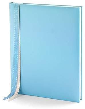 Aspinal of London Deluxe Baby Record Book In Smooth Aqua