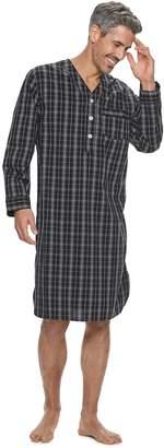 Croft & Barrow Men's Plaid Woven Night Shirt