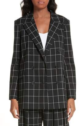 Joie Harlene Windowpane Check Blazer