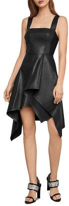 BCBGMAXAZRIA Asymmetric Faux Leather Dress