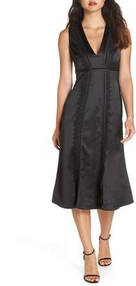 Foxiedox Betty Satin & Lace Midi Dress