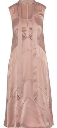 Burberry Tie-neck Silk-charmeuse Dress
