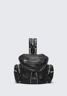 Alexander Wang MINI MARTI BACKPACK IN WASHED BLACK WITH RHODIUM BACKPACK