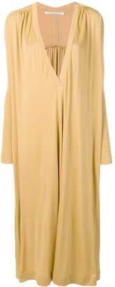Agnona deep v-neck dress