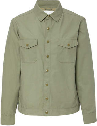 Frame Two-Pocket Cotton-Poplin Army Jacket