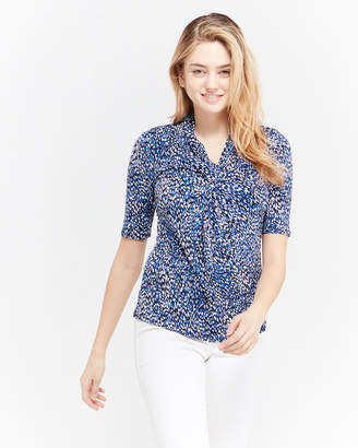Premise Pattern Printed Quarter Sleeve Shirt
