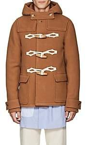 J.W.Anderson Men's Virgin Wool Melton Hooded Coat - Camel