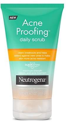 Neutrogena Acne Proofing Daily Scrub 4.2 Ounce Tube (124ml) (6 Pack)