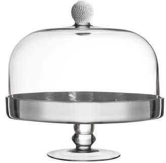 American Atelier Silver Medley Pedestal Plate