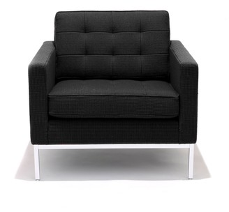 Design Within Reach Florence Knoll Lounge Chair in Volo Leather